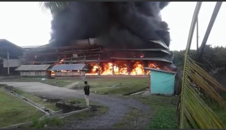 Gudang Karet MSWK Way Kanan Terbakar, Perusahaan Fokus Pikirkan Nasib Karyawan