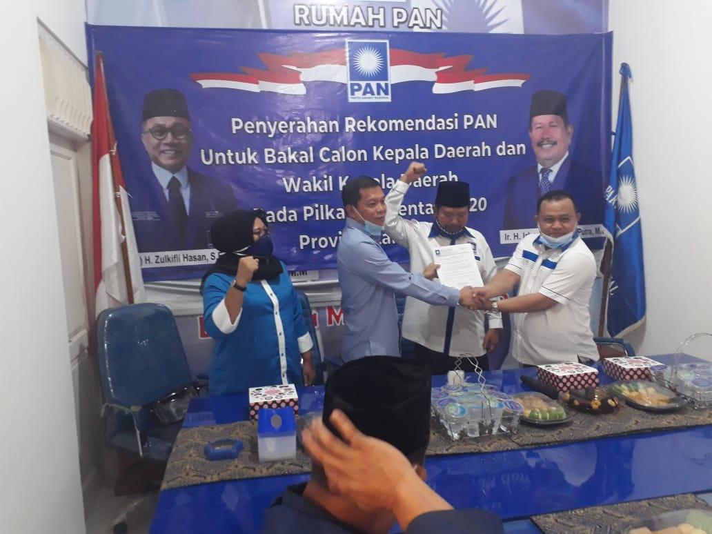 Hipni-Melin Terima Rekomendasi PAN untuk Tampil di Pilkada Lampung Selatan