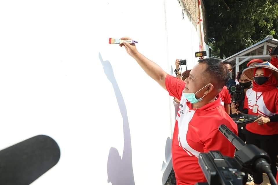 Lomba Mural Lampung Selatan Diikuti 881 Peserta
