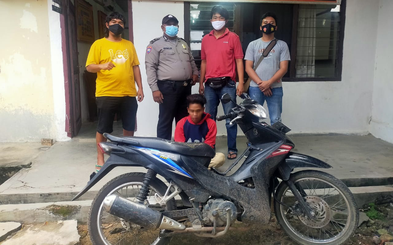 Pelaku Curanmor di Menggala Ditangkap Polisi dan Warga