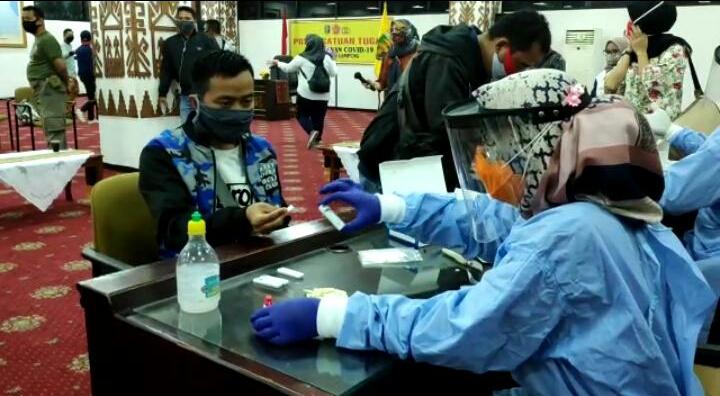 Bacawabup Lampung Selatan Konfirmasi Positif Corona, 48 Wartawan Rapid Test, Ini Hasilnya