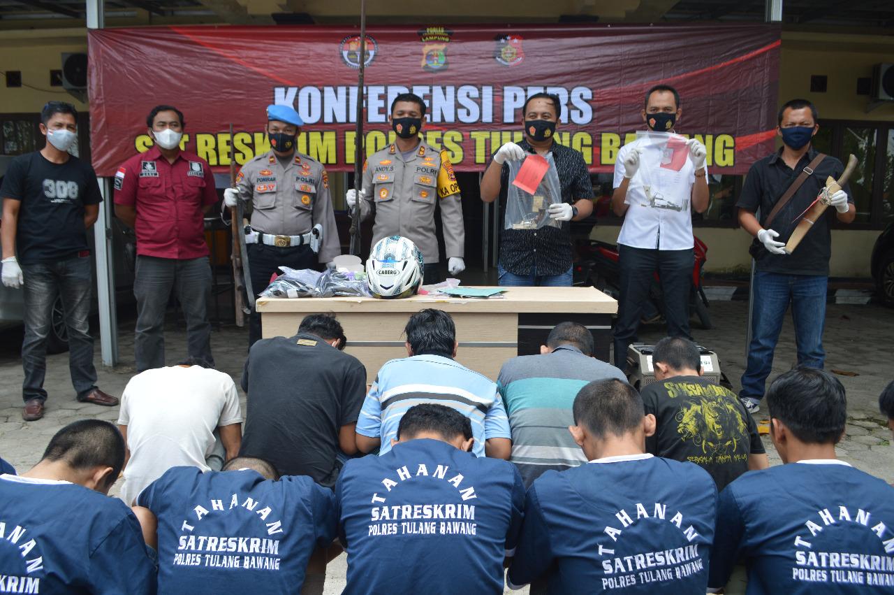 Polres Tulang Bawang Ungkap Kasus Pidana Hasil OSK 2020