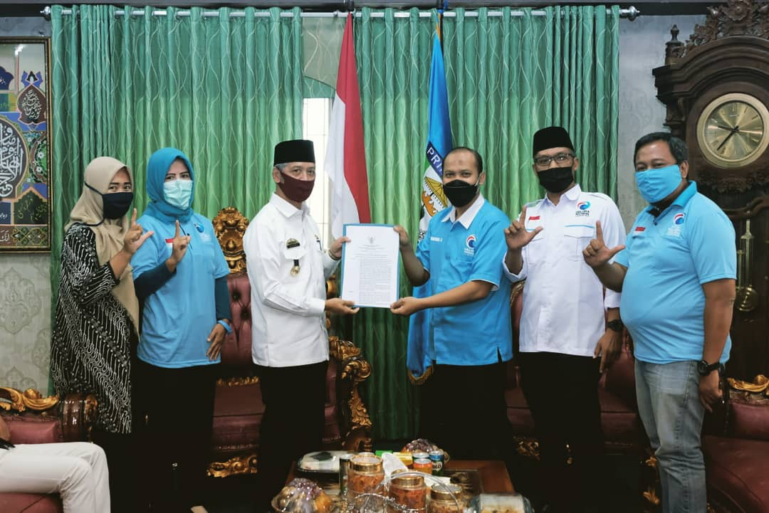 Bupati Pringsewu Terima Kunjungan Pengurus Partai Gelora