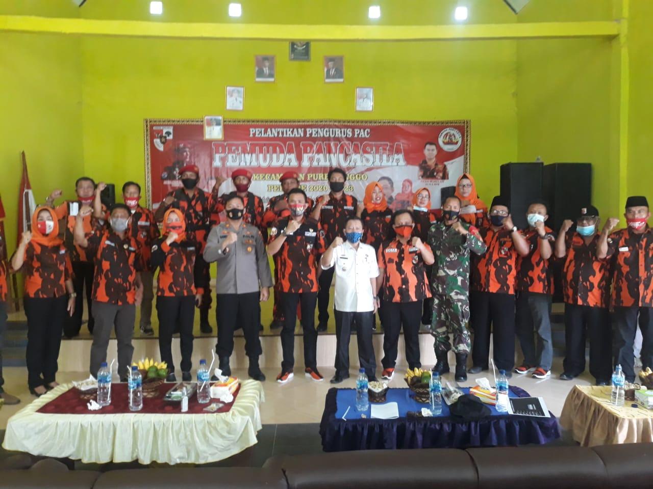 Hevzon Lantik Pengurus PAC Pemuda Pancasila Purbolinggo Periode 2020-2023