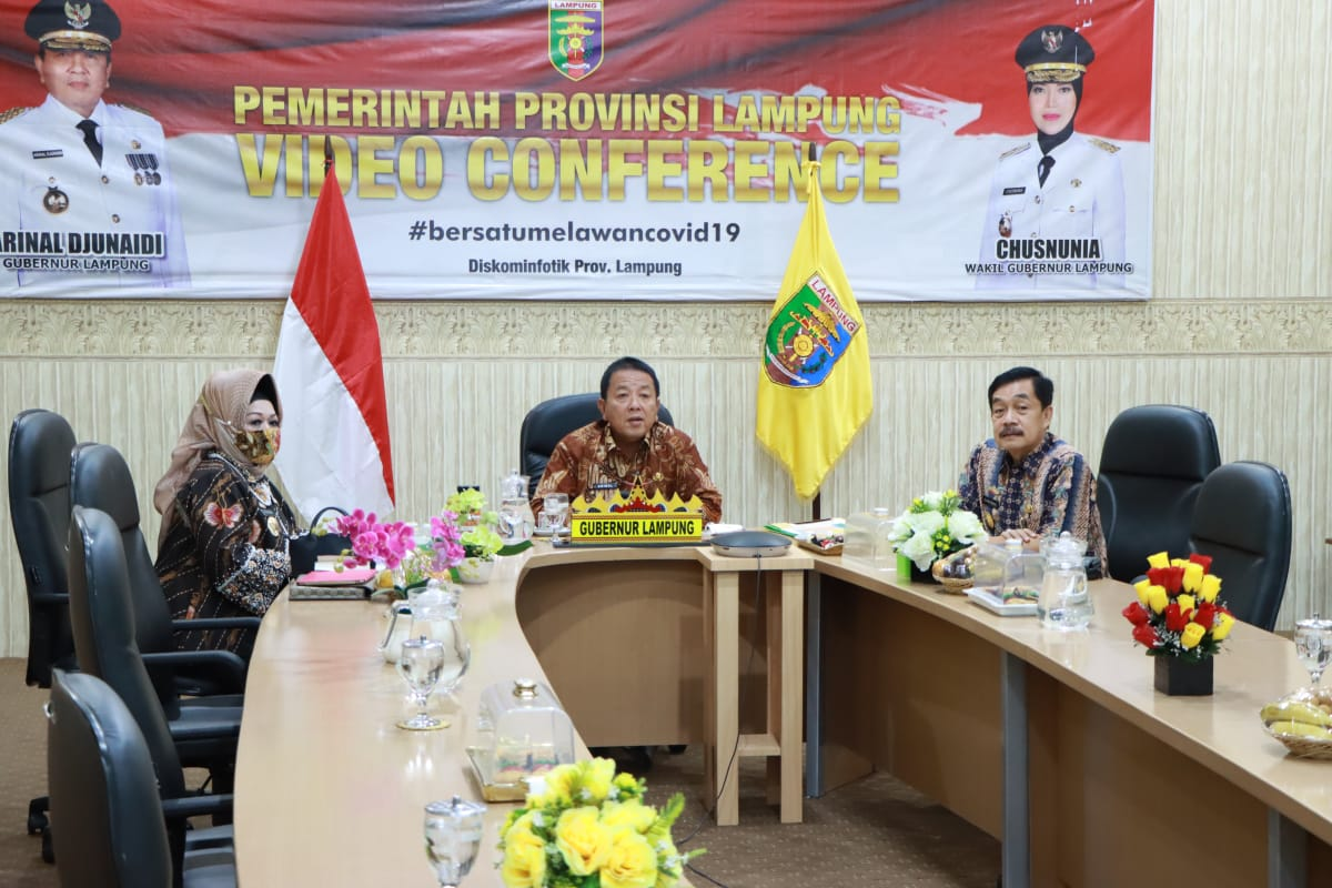 Gubernur Jadi Narasumber Webinar Bertema Menguak Strategi Penthalik Lampung Melawan Covid-19