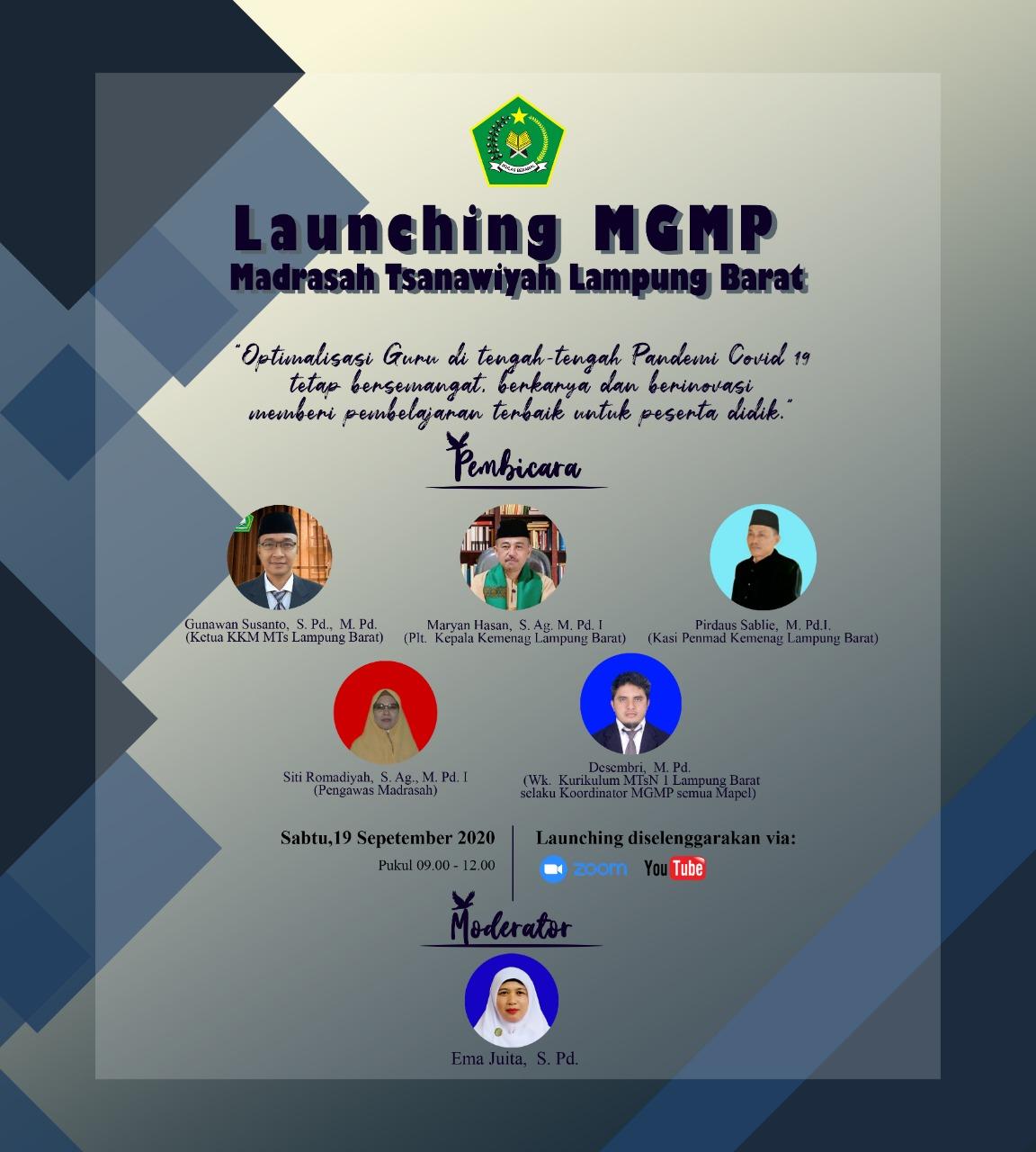 Kemenag Lampung Barat Launching Mgmp Madrasah Tsanawiyah Se Kabupaten Headline Lampung