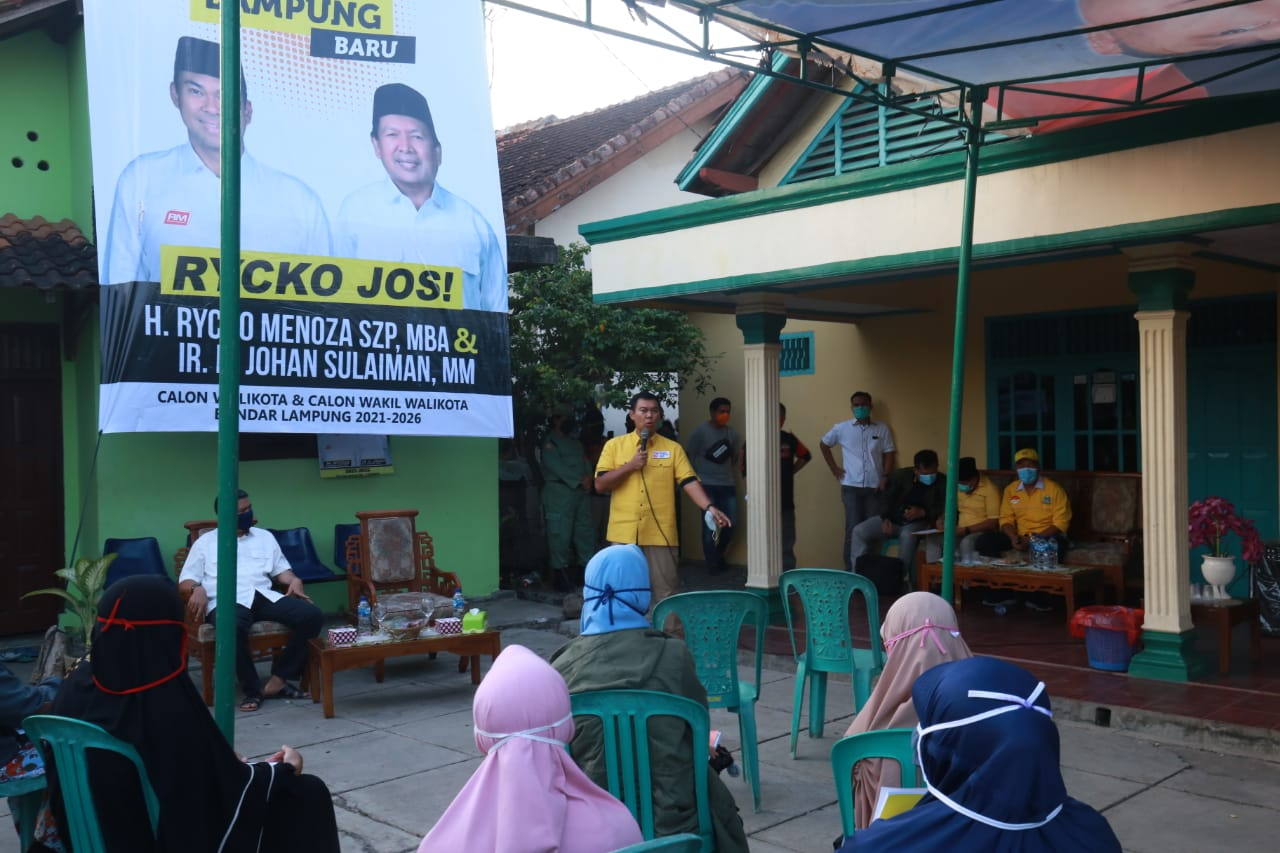 Pilkada Bandar Lampung 2020: Sosialisasi Hendak Dibubarkan, Rycko: Aparatur Jangan Berpihak dan Dijadikan Alat Kepentingan Politik