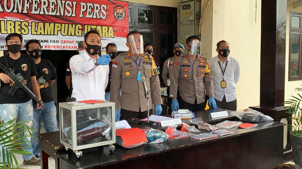 Satu Bulan, Polres Lampung Utara Ungkap 38 Kasus Tindak Pidana, Amankan 30 Pelaku
