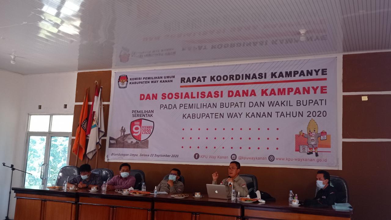 KPU Way Kanan: Paslon Wajib Laporkan Dana Kampanye
