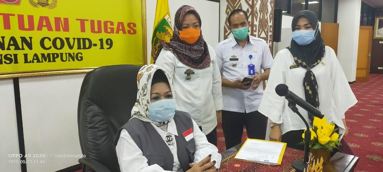Dua Remaja Lampung Konfirmasi Covid-19, Positif Bertambah 16 Orang, Sembuh 35
