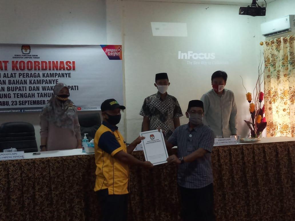 KPU Lamteng Gelar Rapat Paripurna Penetapan Calon Bupati dan Wakil Bupati