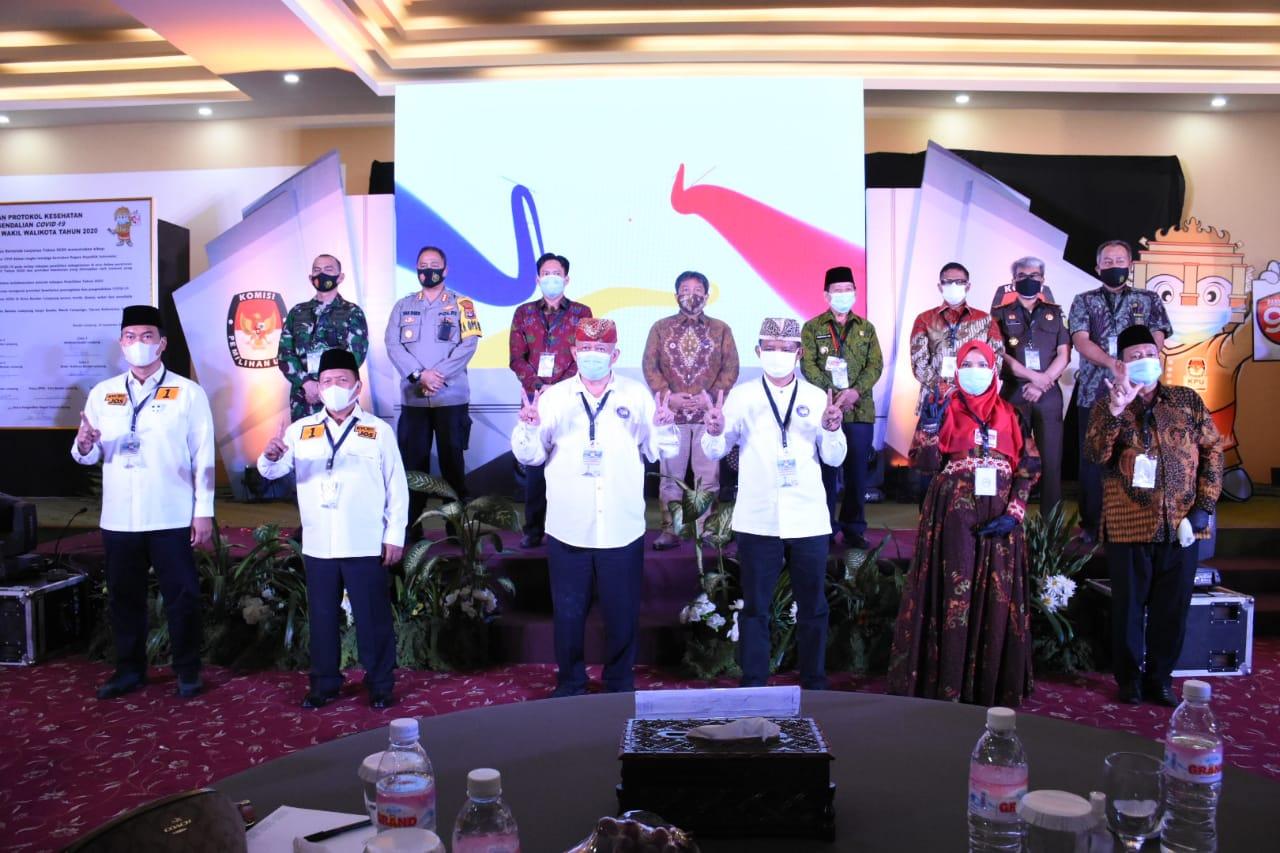 Pilkada Bandar Lampung 2020: Rycko Nomor Urut 1, Yusuf 2, Eva 3, Bawaslu: Masih Langgar Protokol Kesehatan Covid-19