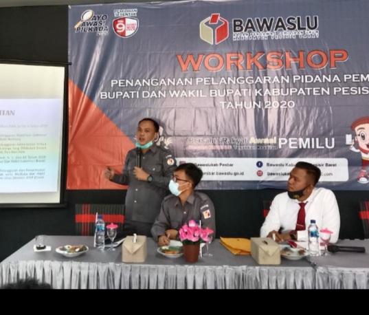 Perkuat Jajaran, Bawaslu Adakan Workshop Penanganan Pelanggaran Pidana Pemilihan