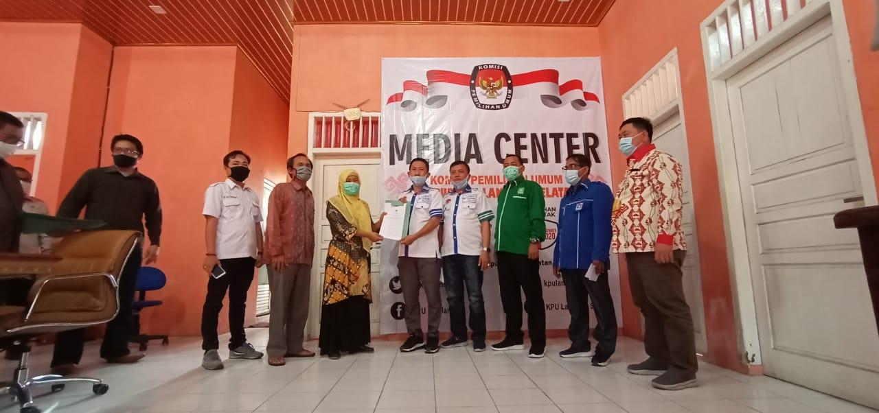 KPU Lampung Selatan Tetapkan Hipni-Melin Paslon Bupati-Wabup