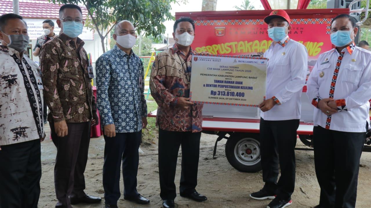 Pemkab Lambar Terima Bantuan CSR dari Bank Lampung