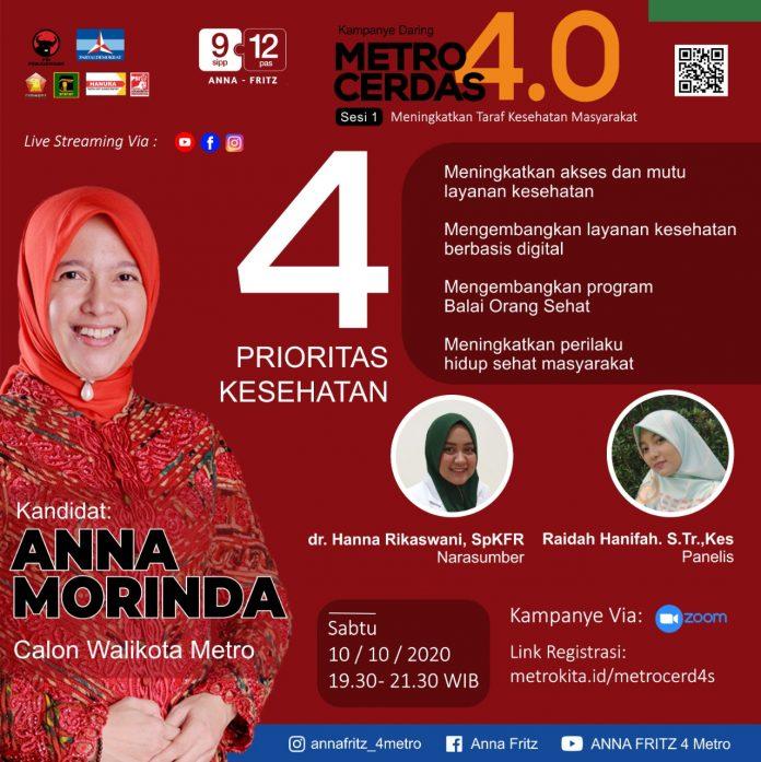 Besok, Paslon Ana-Fritz Kampanye Daring Metro Cerdas 4.0