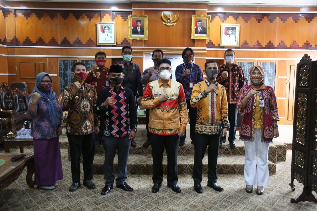 Pjs Bupati Lamtim Terima Kunjungan Ketua Bawaslu