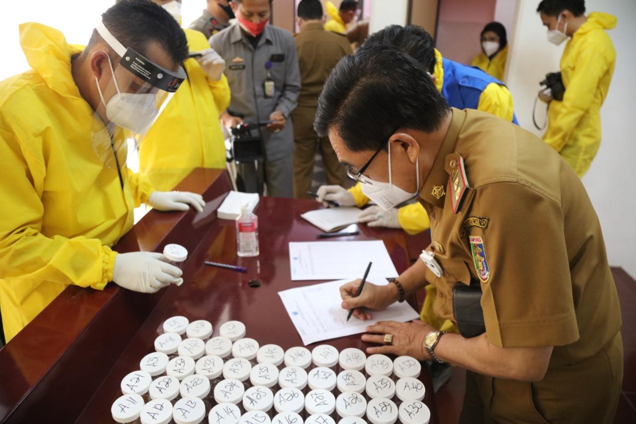 Gubernur, Wagub, Sekdaprov, Pejabat Pemprov Lampung Tes Urine, Arinal: Bekerja Profesional, Jauhi Narkoba