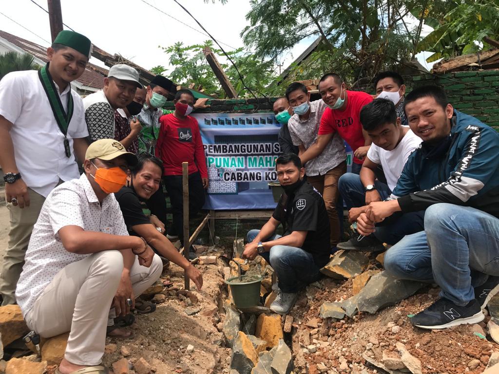 Pembangunan Gedung Sekretariat HMI Cabang Kotabumi Lampung Utara Dimulai