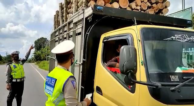 Satlantas Polres Tuba Kembali Tindak Kendaraan ODOL