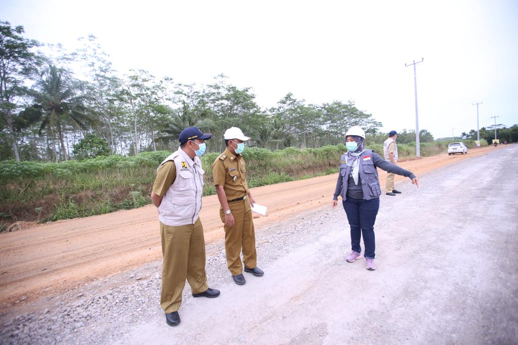 Tinjau Ruas Jalan Provinsi, Wagub Lampung Pastikan Pembangunan Infrastruktur Baik