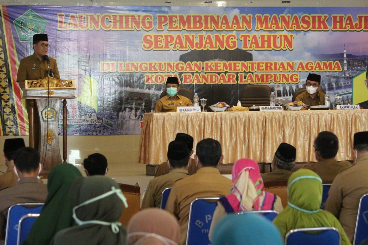Kakanwil Kemenag Lampung Launching Penyelenggaraan Manasik Haji Sepanjang Tahun Kota Balam