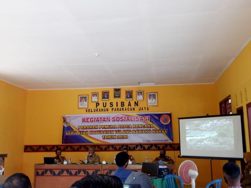 BPBD Tubaba Sosialisasikan Peranan Pemuda Pascabencana
