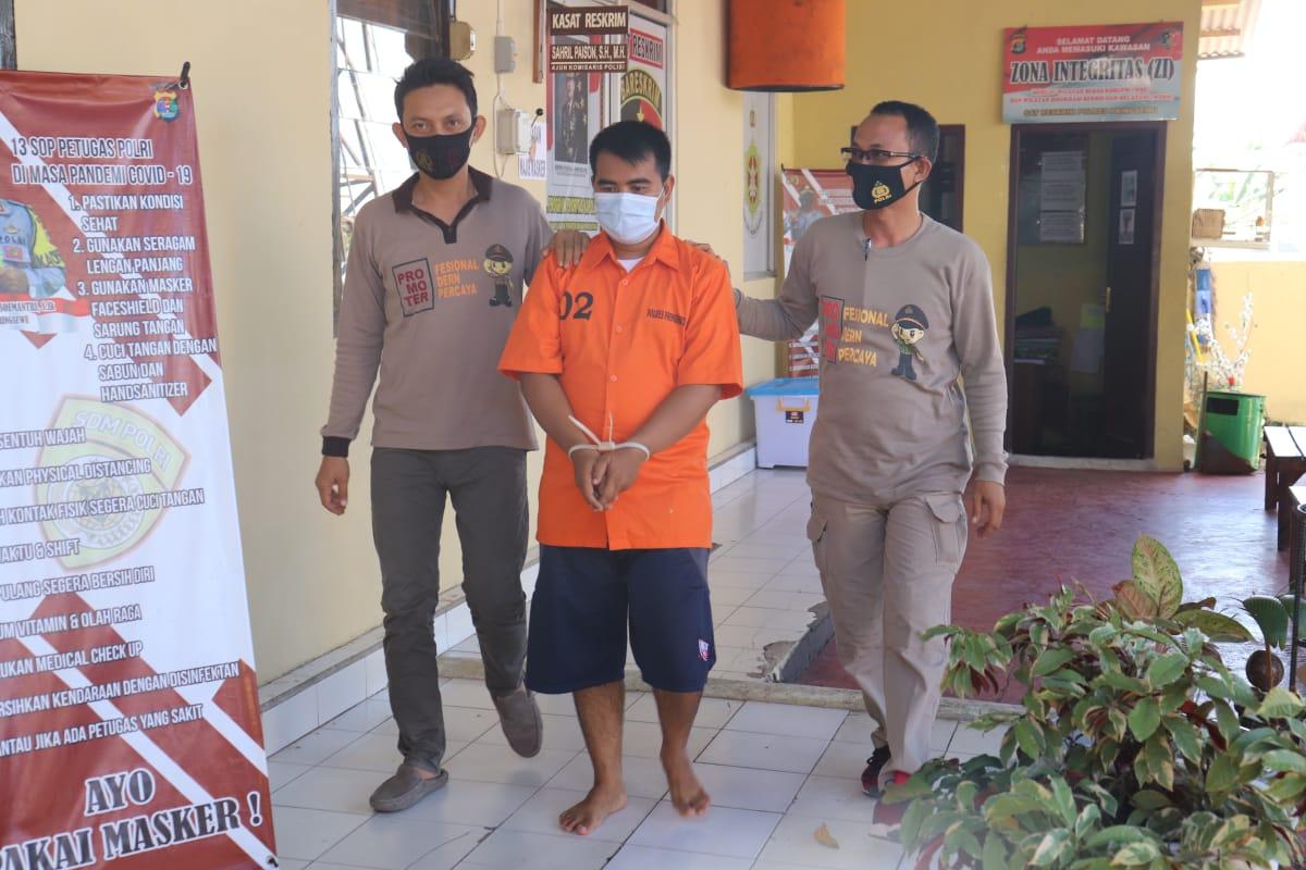 Polres Pringsewu Amankan Pelaku Penggelapan di PT Indomarco