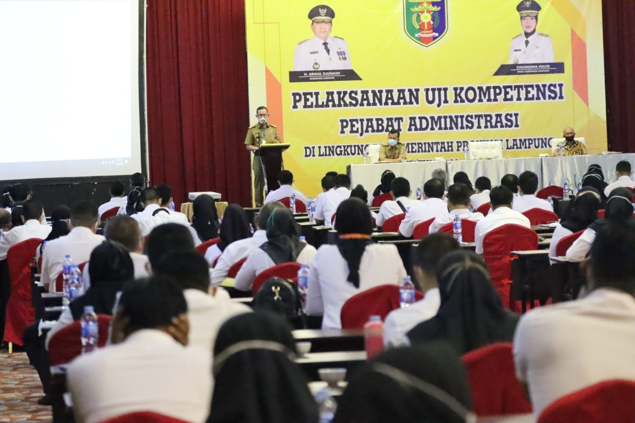 Gubernur Lampung Buka Uji Kompetensi Pejabat Administrasi Pemprov